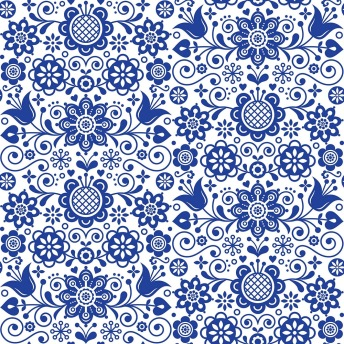 BLUE GRASS ORNATE Belles & Whistles Rice Papers: 3st ark à ca 30x32cm -