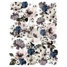 Re Design Décor Transfer Dark Floral - Mått: ca 61x89cm
