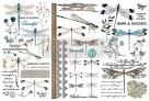 Re Design Décor Transfer Spring Dragonfly - Mått: ca 30x15cm