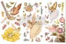 Re Design Décor Transfer Fairy Flowers - Mått: ca 30x15cm