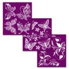 Dixie Belle Silk Screen Stencil - Butterflies 3st ca 20x25cm