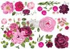 Re Design Décor Transfer - Lush Floral I - Mått: ca 86x117cm
