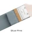 Blue Pine - Fusion handmålad tag 3x6 cm