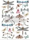 Re Design Décor Transfer - Riverbed Dragonflies - Mått: ca 61x89cm