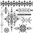 Re Design Stämpel Tribal Prints