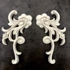 WoodUbend® Floral Scrolls 16x8cm WUB1388 (2-pack)