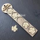 WoodUbend® Flower Garlands 3.5x3.5cm WUB350.N (5-pack)