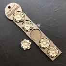 WoodUbend® Petalled Flowers 4x4cm WUB1117.5 (5-pack)