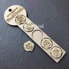 WoodUbend® Swirl Rose Buds Ø 2.7cm WUB344 (5-pack)