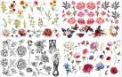 DBP Belles and  Whistles Transfer - Vintage Floral - ca 61x81cm