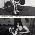 RÖRANDE TIDNINGEN HERCULES 1976-12,Johny Hansson innan styrkelyftningen tog över