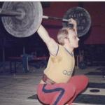 RÖRANDE XTRA MTRL 1977-19,Björn Erickson i ett träningryck i BH,privatfoto Björn Erickson