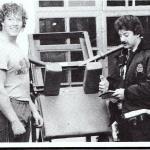 RÖRANDE  B&K 1983 - 32,Dala åker på en bot för överbelastning på redskapet av Boydbuildingpolisens konstapel Straub