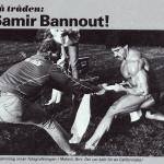 RÖRANDE B&K 1984 - 40,Mr Olympia Samir Bannout värms upp av en Baltic Clubare