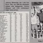 RÖRANDE B&K 1984 - 41,Johnny Melander vinnare SM 1984 i styrkelyft,885kg