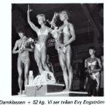 RÖRANDE TIDNINGEN HERCULES 1984-73,EM kval 1984 i Västerås,Evy Engström på pallen