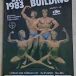 affisch EM i bodybuilding 1983,skänkt av Arthur Markentorp