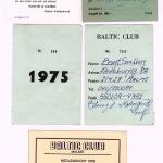 Medlemskort Baltic Club och Baltiska Hallen