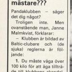 RÖRANDE B&K 1985 NR 2,PANDAKLUBBEN