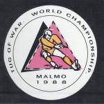 RÖRANDE DEKAL WM I DRAGKAMP 1988