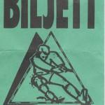 RÖRANDE ENTRÉBILJETT KLUBBMÄSTERSKAP I DRAGKAMP 1988