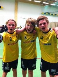 Från vänster: Emil Mellergård, Oliver Jacobsson, Daniel Sandberg.