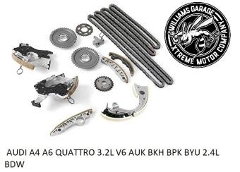 Kedjesats Komplett - AUDI A4 A6 QUATTRO 3.2L V6 AUK BKH BPK BYU 2.4L BDW - Kedjesats Komplett - AUDI A4 A6 QUATTRO 3.2L V6 AUK BKH BPK BYU 2.4L BDW