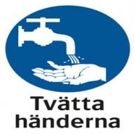 Påbudsskylt - Tvätta Händerna