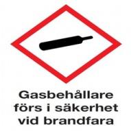 Gasbehållare förs i säkerhet