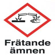 Varningsskylt - Frätande ämnen
