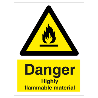Danger Highly Flammable Material