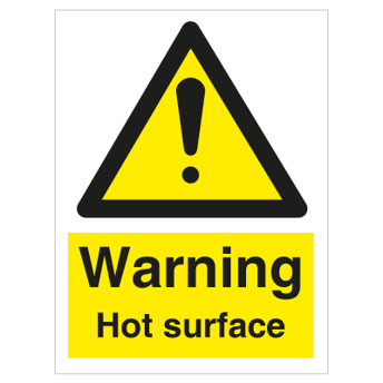 Warning Hot surface - Photoluminescent Self Adhesive Vinyl
