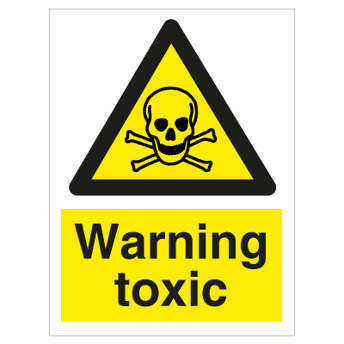 Warning Toxic - Photoluminescent Self Adhesive Vinyl