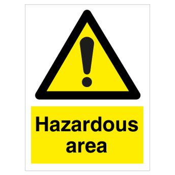 Hazardous area - Photoluminescent Self Adhesive Vinyl