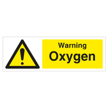 Warning Oxygen - Photoluminescent Self Adhesive Vinyl