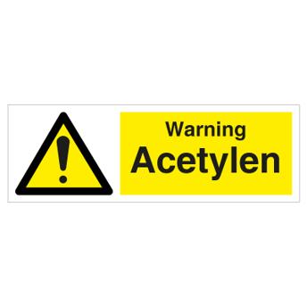 Warning    Acetylene - Photoluminescent Self Adhesive Vinyl