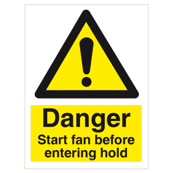 Start fan before entering hold - Photoluminescent Self Adhesive Vinyl