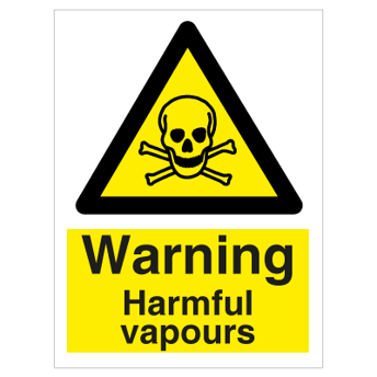 Danger Harmful Vapours