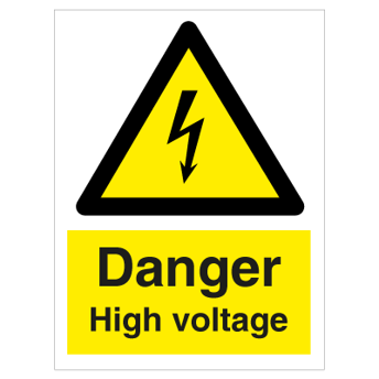 Danger High voltage - Photoluminescent Self Adhesive Vinyl