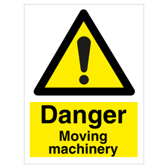 Danger Moving machinery - Photoluminescent self Adhesive Vinyl