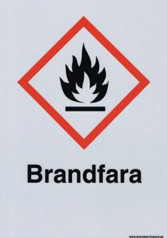 Varningsskylt Brandfara - 210 x 297 mm i ALu