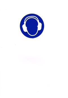 Skylt Hörselskydd - Självhäftande dekal 110mm i diametr