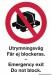 Skylt Utrymningsväg får ej blockeras / Emergency exit Do not Block