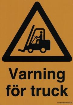 Varning för truck -