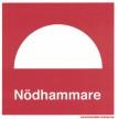 Nödhammare - 150x150 mm i plast