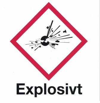 Explosivt - 150 x 150 mm i aluminium