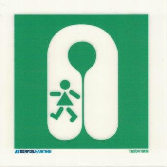LifeJacket Child - 150x150 mm efterlysande plast
