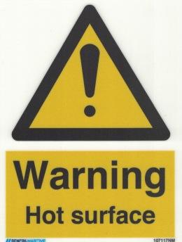 Warning Hot surface - Photoluminescent Self Adhesive Vinyl