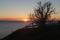 Solnedgång på en vinterpromenad till Strandbaden