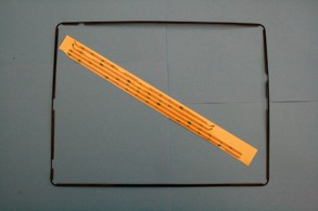 IPAD 3 display ram med lim stickers Svart. - Ram till iPad 3